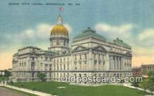 cap002064 - Indianapolis, Indiana, IN State Capital, Capitals Postcard Post Card USA