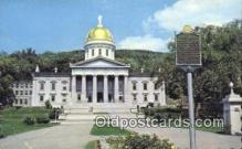 cap002096 - Montpelier, Vermont, VT State Capital, Capitals Postcard Post Card USA