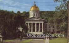 cap002098 - Montpelier, Vermont, VT State Capital, Capitals Postcard Post Card USA