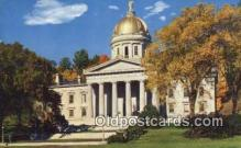 cap002104 - Montpelier, Vermont, VT State Capital, Capitals Postcard Post Card USA