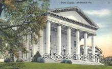 cap002107 - Richmond, Virginia, VA  State Capital, Capitals Postcard Post Card USA