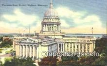 cap002118 - Madison, Wisconsin, WI State Capital, Capitals Postcard Post Card USA