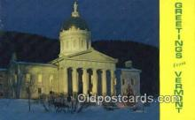 cap002191 - Montpelier, Vermont, VT State Capital, Capitals Postcard Post Card USA