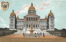 cap002344 - State Capitol Des Moines, Iowa, USA Postcard Post Card