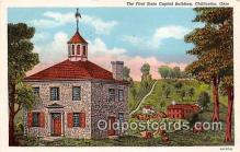 cap002389 - First State Capitol Building Chillicothe, Ohio, USA Postcard Post Card