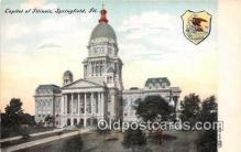 cap002409 - Capitol of Illinois Springfield, Illinois, USA Postcard Post Card