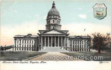 cap002412 - Kansas State Capitol Topeka, Kansas, USA Postcard Post Card