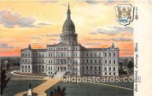 cap002446 - State Capitol Lansing, Mich, USA Postcard Post Card