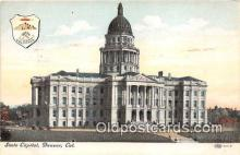cap002454 - State Capitol Denver, Colorado, USA Postcard Post Card