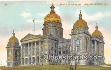 cap002484 - State Capitol Des Moines, Iowa, USA Postcard Post Card