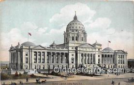 cap002488 - State Capitol Little Rock, Arkansas, USA Postcard Post Card