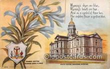 cap002499 - Fringed Gentian, State Capitol Cheyenne, Wyoming, USA Postcard Post Card