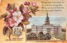 cap002501 - Apple Blossom, State Capitol Lancing, Mich, USA Postcard Post Card