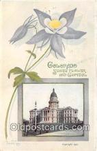 cap002503 - Columbine, State Capitol Denver, Colorado, USA Postcard Post Card