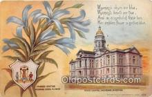cap002505 - Fringed Gentian, State Capitol Cheyenne, Wyoming, USA Postcard Post Card