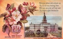 cap002512 - Apple Blossom, State Capitol Lancing, Mich, USA Postcard Post Card