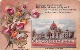 cap002513 - Moccasin, State Capitol St Paul, Minn, USA Postcard Post Card