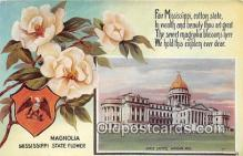 cap002514 - Magnolia, Mississippi State Flower, State Capitol Jackson, Miss, USA Postcard Post Card