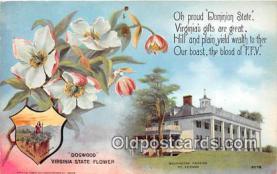 cap002517 - Dogwood, Washington Mansion Mt Vernon, VA, USA Postcard Post Card