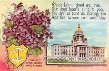 cap002524 - Violet, State Capitol Providence, RI, USA Postcard Post Card