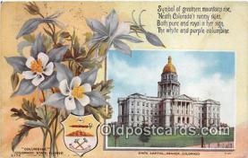cap002544 - Columbine, State Capitol Denver, Colorado, USA Postcard Post Card