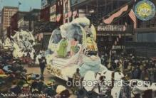 car001014 - Mardi Gras Pegeant Carnival Parade, Parades Postcard Post Card