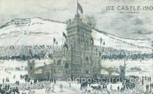 car001032 - Ice Castle 1910 Carnival Parade, Montreal Canada? Parades Postcard Post Card
