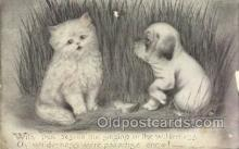 cat001664 - Cat Cats, Old Vintage Antique Postcard Post Card