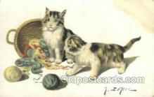 cat001696 - Artist Leroy Cat Cats, Old Vintage Antique Postcard Post Card