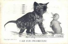 cat001714 - Artist Colby, Cat Cats, Old Vintage Antique Postcard Post Card