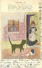 cat001716 - Cat Cats, Old Vintage Antique Postcard Post Card