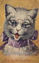 cat001719 - Artist Arthur Thiele Cat Cats, Old Vintage Antique Postcard Post Card