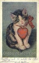 cat001739 - Artist Stacks Cat Cats, Old Vintage Antique Postcard Post Card
