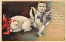cat002113 - Cat Post Card Old Vintage Antique