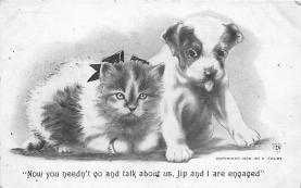 cat002156 - Cat Post Card Old Vintage Antique