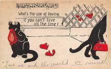 cat002159 - Cat Post Card Old Vintage Antique