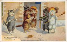 cat002160 - Cat Post Card Old Vintage Antique
