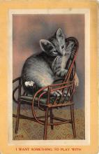 cat002271 - Cat Post Card Old Vintage Antique