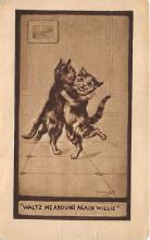 cat002312 - Cat Post Card Old Vintage Antique