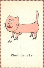 cat002350 - Cat Post Card Old Vintage Antique