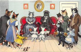 cat254263 - Cat Post Card Old Vintage Antique