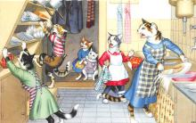 cat254269 - Cat Post Card Old Vintage Antique