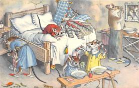 cat254271 - Cat Post Card Old Vintage Antique