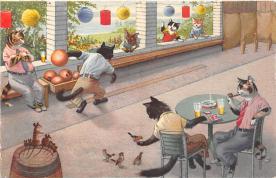 cat254283 - Cat Post Card Old Vintage Antique