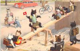 cat254303 - Cat Post Card Old Vintage Antique