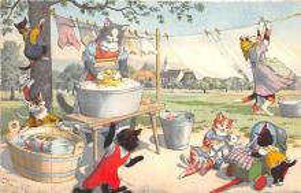 cat254307 - Cat Post Card Old Vintage Antique