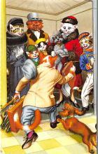 cat254314 - Cat Post Card Old Vintage Antique