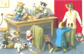 cat254315 - Cat Post Card Old Vintage Antique