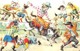 cat254316 - Cat Post Card Old Vintage Antique