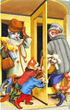 cat254326 - Cat Post Card Old Vintage Antique